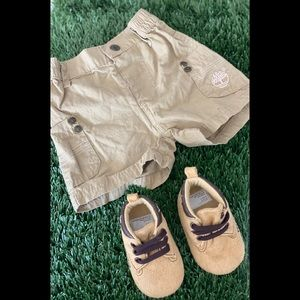Shorts and shoes 3-6 months